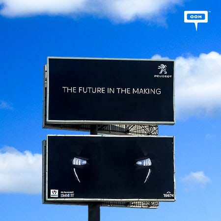 Al Mansour teases the audience with Peugeot on Cairo's billboards
