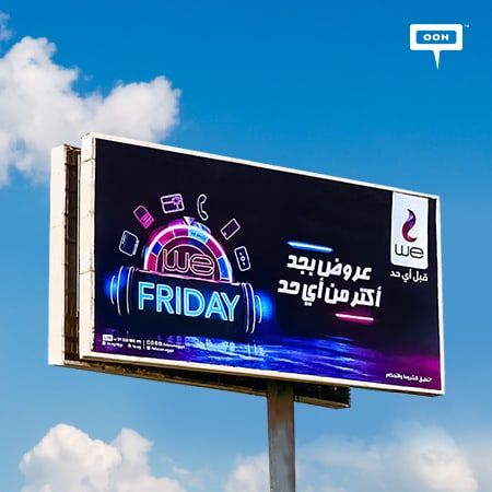 Telecom Egypt fills Cairo's billboards with WE's Black Friday offers