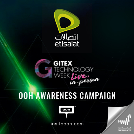 Etisalat announces its presence at GITEX on Dubai's billboards