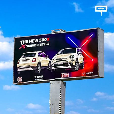 "Dynamics brings Fiat ""The new 500X Xtreme in style"" to Cairo's billboards"