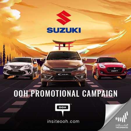 "Suzuki brings up ""Reduced prices"" on the billboards of the UAE"