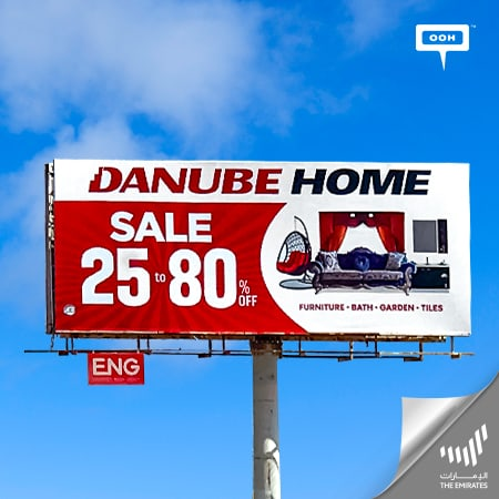 Danube Home announces its mega sale on the billboards of The Emirates