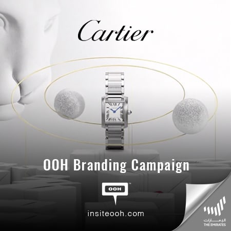 Cartier reinforces its brand positioning on the billboards of The Emirates