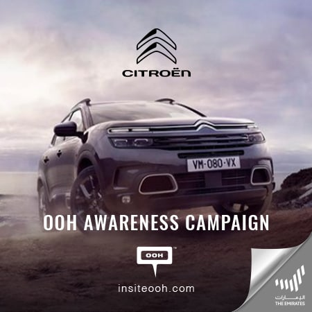 The new Citroën SUV range arrives at the billboards of Dubai