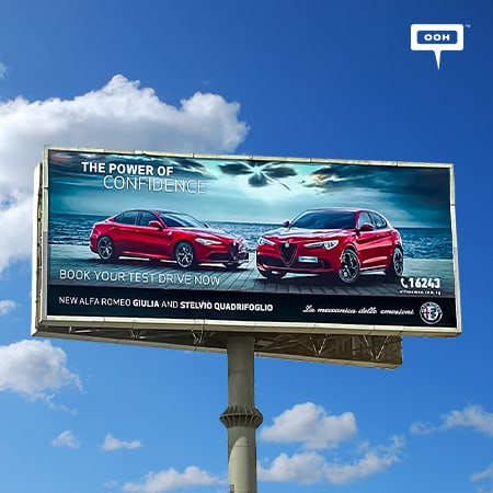 Cairo's billboards present the new Alfa Romeo Giulia and Stelvio