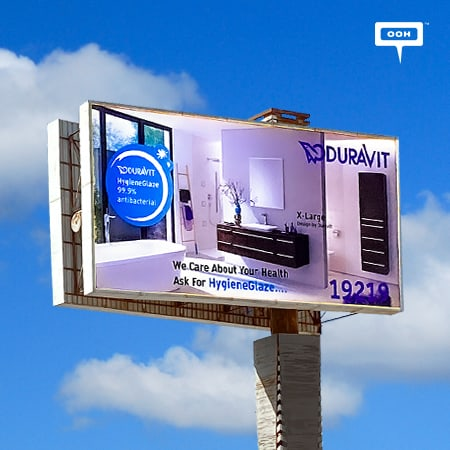 Duravit makes a presence on Cairo's billboards to showcase its creations