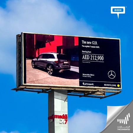 Gargash brings up the new Mercedes-Benz GLB on Dubai's billboards