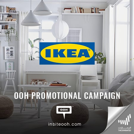"IKEA climbs up UAE's billboards to reinforce its huge ""Part Sale"""