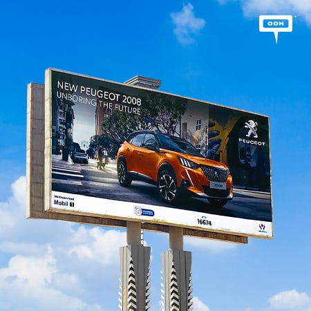 Peugeot reveals its new futuristic 2008 SUV on Cairo's billboards