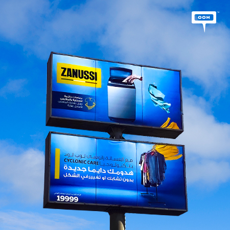 Zanussi returns back to Cairo's billboards with its advantageous washing machine