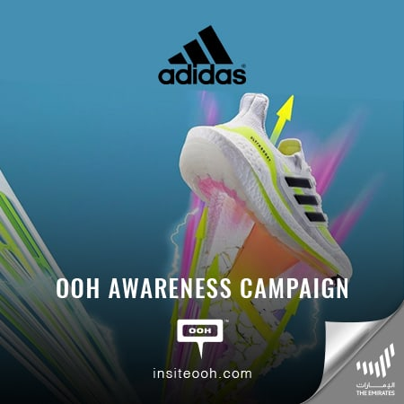 Adidas brands its Hi-Energy Ultra Boost 21 with an OOH campaign on Dubai's roads