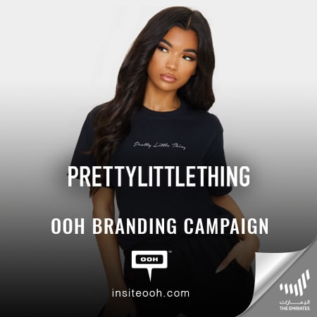 Boohoo Group continues to release OOH branding campaigns for PrettyLittleThing