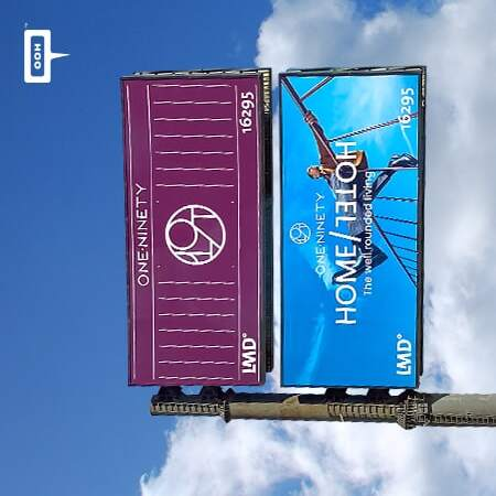 """LMD climbs up Cairo's billboards to convey """"The well rounded living"""" at One Ninety"""