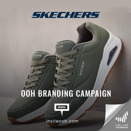 Club Apparel promotes Skechers on Dubai's billboards with a branding campaign