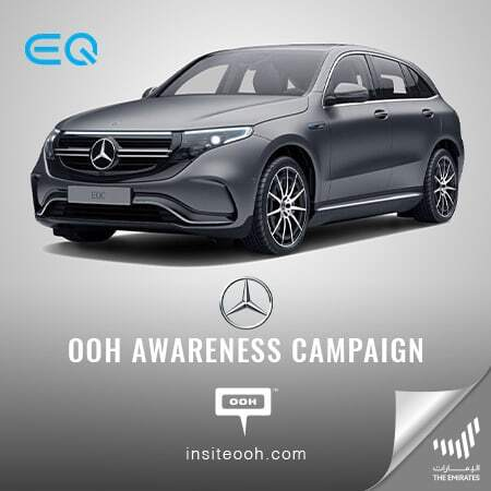 Mercedes Benz brings up the all-electric EQC on Dubai's billboards