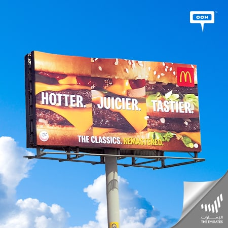 "McDonald's climbs UAE's billboards to announce that its classic sandwiches are ""Remastered"""
