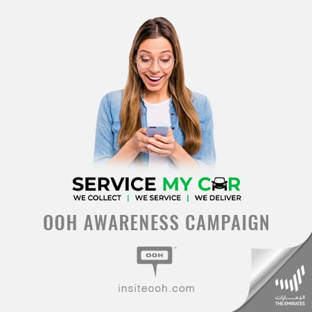 Service My Car demonstrates its convenient customer-experience on Dubai's billboards