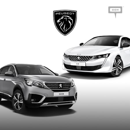 Peugeot brings up the new 5008 and 508 on the billboards of Cairo