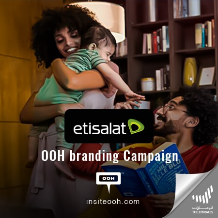 "Etisalat UAE inspires people with its ""Together Means"" campaign all over the billboards"
