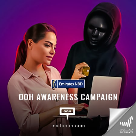 Emirates NBD apprises the audience against fraud on Dubai's billboards