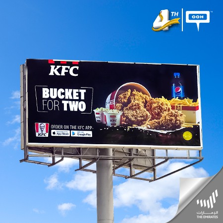 "KFC introduces the ""Bucket for Two"" on UAE's billboards"