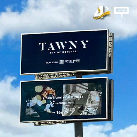 Hyde Park Developments announces the launch of Tawny on the billboards of Cairo