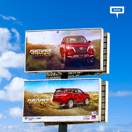 Toyota Egypt brings its SUV, Fortuner Facelift 2022 on Cairo's Billboards