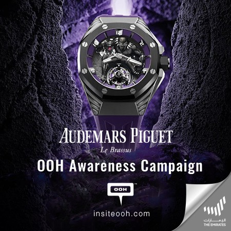 Audemars Piguet x Marvel finally reveal the Black Panther watch on UAE's billboards