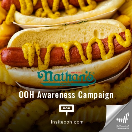 """Nathan's Famous brings """"The Flavor of New York"""" to Dubai's Billboards"""