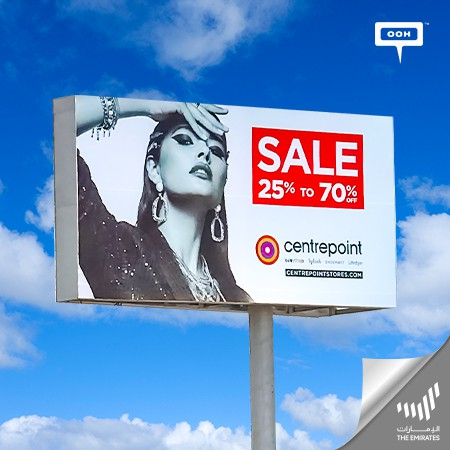 Centrepoint Lands on UAE's Billboards with a Super Sale of Up To 70% off!