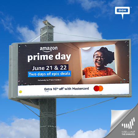 Amazon-ae releases Prime Day 2021 on Dubai's Billboards, bringing Up Two Days of Epic Deals and Offers