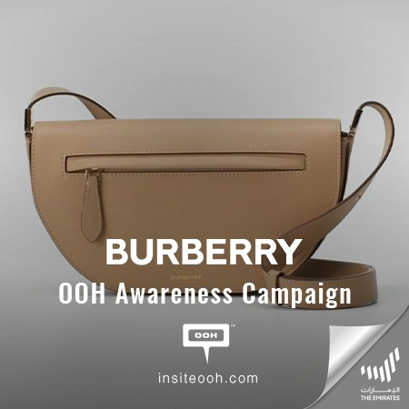 Burberry brings to Billboards The Olympia Bag, featuring Kendall Jenner, FKA Twigs and Shygirl