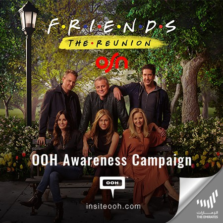 OSN Makes a Statement on Dubai's Billboards, Friends: The Reunion Only on OSN Same Time as World Release
