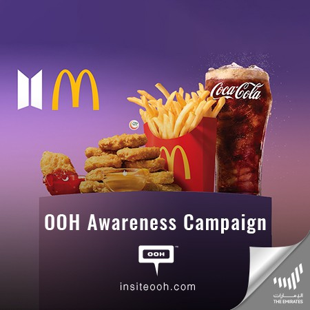 McDonald's Thrill the Public with Its Limited-Edition BTS Collaboration Meal on UAE Billboards