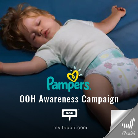 Pampers Night Climbs on Dubai's Billboards With All Around Night Protection