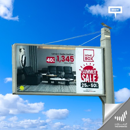 Home Box Announces Its Summer Sale Starting From 25% To 50% Off on UAE Billboards