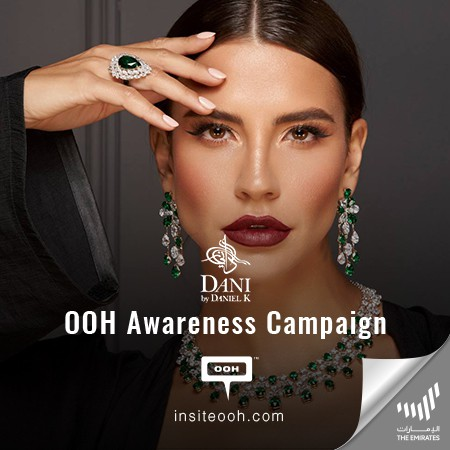 Dani by Daniel K Shimmers on Dubai's Billboards for the First Time to Present its Finest Diamond Jewelry