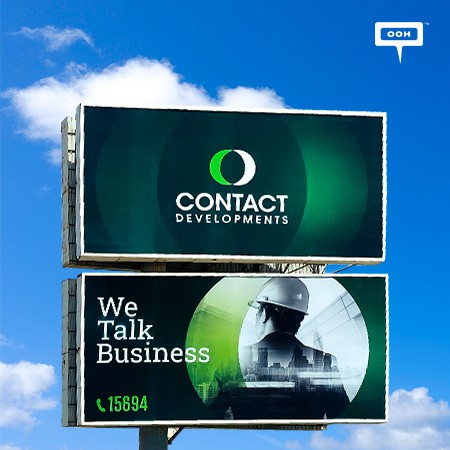 """Contact Developments Show Up on Cairo's Billboards with Their Branding Campaign """"We Talk Business"""""""