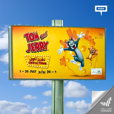 Cheese Town Makes Buzz on Dubai's Billboards with its Cheerful Tom & Jerry Event