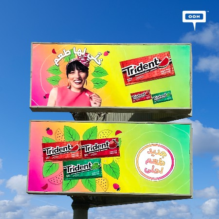 Trident Colours Egypt's Billboards with Their Stronger Flavoured Chewing Gum!