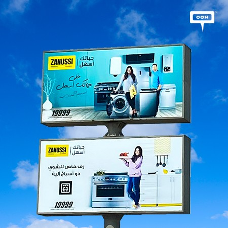 Ahmed Khaled Saleh & Hanady Mehanna Dominate Cairo's OOH Scene with Zanussi's Ongoing Campaign