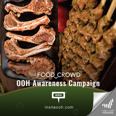 """Food Crowd Launches a DIY Cooking Kit on Dubai's Billboards, under the Motto of """"Crave it? Cook it"""""""
