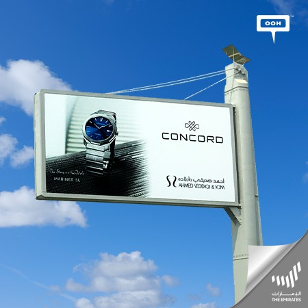 The Iconic CONCORD MARINER SL Flaunting its Bold Design on Dubai's Billboards