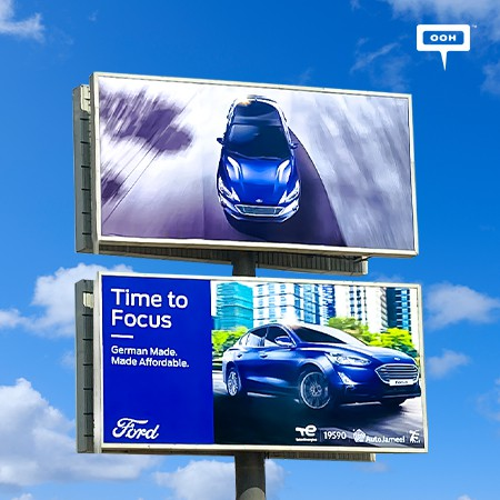 The New Ford Focus Zooms Across Cairo Billboards Flaunting Its Daring Design and German Craftsmanship