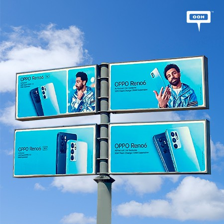 Mohamed Salah Juggles The Reno6 on Cairo's Billboards, Promoting OPPO's Newest Flagship Smartphone