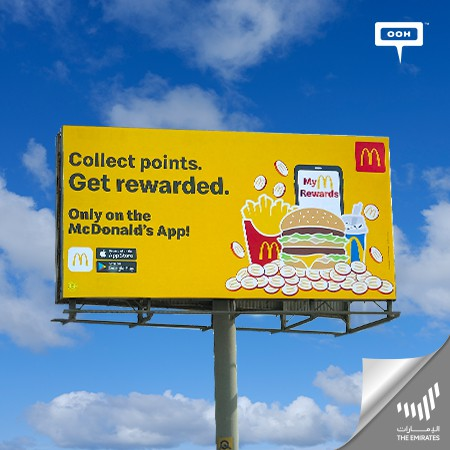 The McDonald's App Gains a Publicity Boost on Dubai's Billboards: Collect Points, Get Rewarded