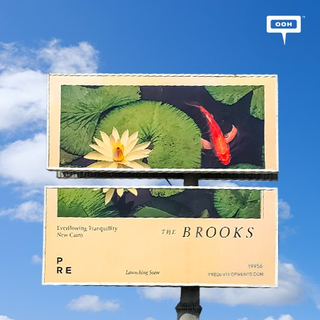 PRE Developments Promotes The Brooks on Cairo's Billboards With Serene Imagery