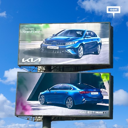The New Kia Grand Cerato Carves Its Strong Presence Across Cairo's OOH Landscape
