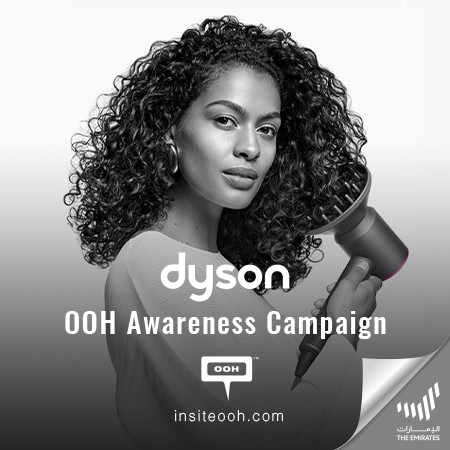 Dyson's Supersonic Blow-dryer Promises to Uncoil All Types of Hair Swiftly on Dubai's Billboards