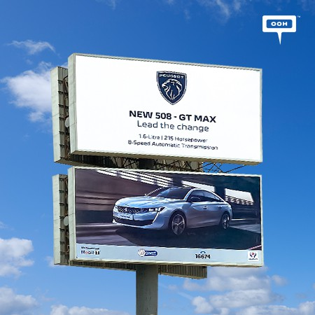 """Peugeot """"Leads the Change"""" with Their New 508-GT Max on Cairo's Billboards"""
